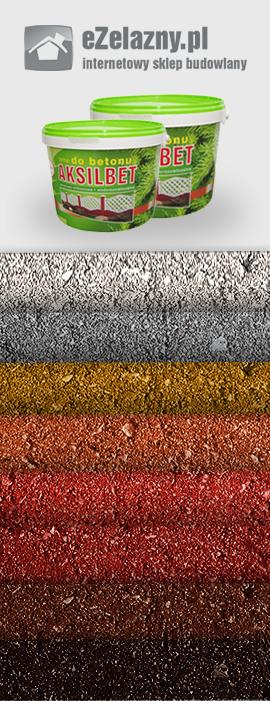 Farby do betonu Aksilbet w różnych kolorach