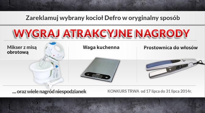 Nagrody w konkursie kotły Defro