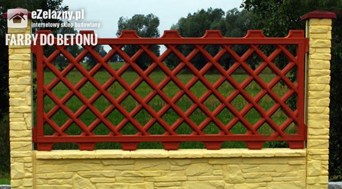 Farba do malowania ogrodzenie betonowego Aksilbet